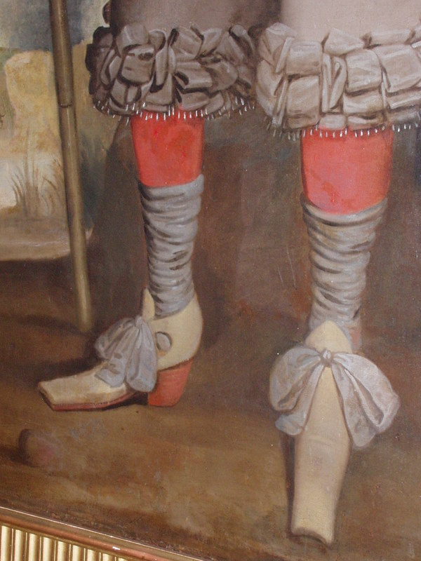 Close-up of John Fagge's legs