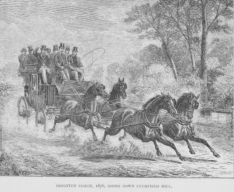 Coming down Cuckfield Hill 1876 Janet Pennington