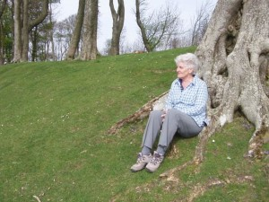 Dr Janet Pennington on Chanctonbury Ring