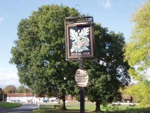 Royal Oak inn sign, Newick